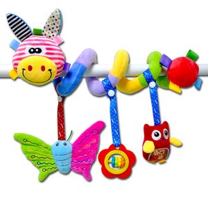 Stoff-Spirale zum Greifen und Fühlen für Bett, Kinderwagen, Mehrfarben 105cm Gelber Mundhirsch