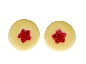 Keks Sternchen Ohrstecker Plätzchen Stern Butterkeks backen Weihnachten Stecker