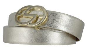 Silbergift Damengürtel 30 mm gold mit edler Designschließe 85