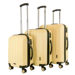 Packenger Velvet Premium Koffer 3er-Set, Cafe-au-lait