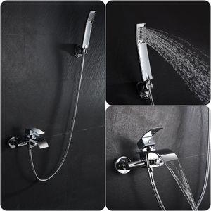 Wannenarmatur Handbrasue Set Badwanne Armatur Wasserhahn Badewannenarmatur Dusch