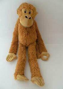 Stofftier Hängeaffe, braun, 70 cm, hängend, Kuscheltier Plüschtier, Affe Affen Hängeaffen