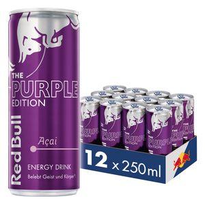 [3,00 € Pfand im Preis enthalten] Red Bull Energy Drink Acai-Beere 12 x 250 ml Dosen Getränke, Purple Edition 12er Palette