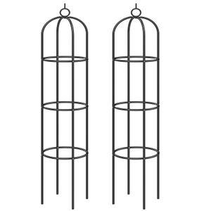 2er Set Rankhilfe DEUBA® Rankgitter Rosensäule Obelisk Garten