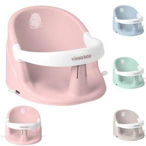 Kikkaboo Baby Badewannensitz Hippo, rutschfest ergonomische Form Bügel abnehmbar rosa