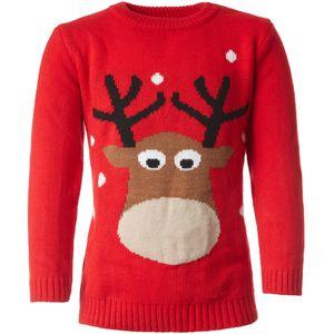 dressforfun Weihnachtspullover reizendes Rentier für Kinder - 140 (9-10 Jahre)