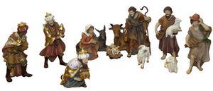 Krippenfiguren 12-tlg. Set Kunstharz Krippe Figuren Polyresin 12 cm