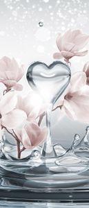 Türtapete Vlies Magnolie Blumen Modern (91x211 cm) Türposter Fototapete Tür Wohnzimmer Schlafzimmer Wandtapete Tapete Latexdruck UV-Beständig Geruchsfrei Hohe Auflösung Montagefertig