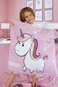 Bettwäsche Little Einhorn Unicorn Pony Hochwertige Microfaser Bettbezug 135x200