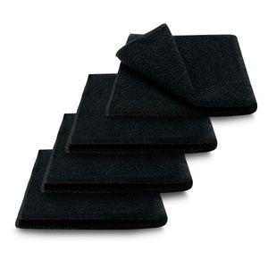 4x ARLI Duschtuch 60 x 120 cm schwarz - 100% Baumwolle ( 4er Set / Pack )