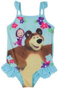 Mascha und der Bär Kinder Badeanzug Größe blau 98/104