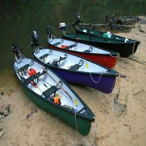 Kanu Sampan, Farbe:Dunkelgrün