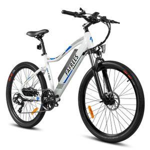FAFREES F100 26 Zoll Elektrisches Fahrrad Electric Bike E-MTB Mountainbike Elektrofahrrad E-Bike E-Faltrad E-Bike Citybike mit 11.6Ah 48V LED Leucht Scheinwerfer 33KM/H 350W , Weiß