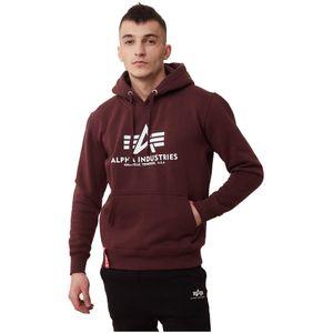 Alpha Industries Herren T-Shirt Basic Logo deep maroon XXL