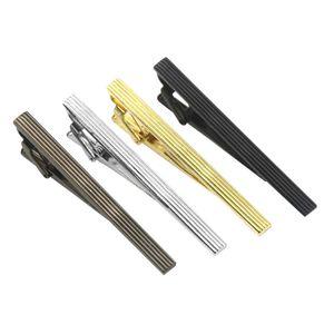 4 Stücke Krawattenklammern Herren Metall Mode Einfache Krawatte Krawattennadel Bar Schließe Clips
