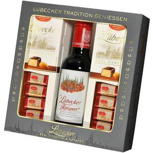 Lübecker Edel Marzipan und Lübecker Rotspon Geschenkeset 450g