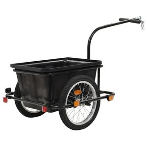 dereoir Fahrrad-Lastenanhänger Schwarz 50 L