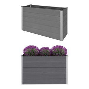 Garten-Hochbeet WPC 150 x 50 x 91 cm Grau - Blumenkübel Blumenkasten Pflanzbeet