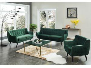 2-Sitzer-Sofa Samt SERTI - Tannengrün