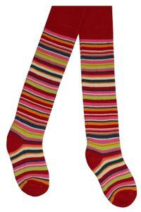Tobeni 2 Paar schöne warme Thermo Strumpfhosen für Mädchen und Jungen, Farbe:Rot, Grösse:110-116