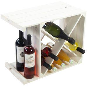 """Weinregal """"X"""" weiß Flaschenregal Weinschrank Weinablage Weinkiste Holzkiste für Weinflaschen Kistenregal"""