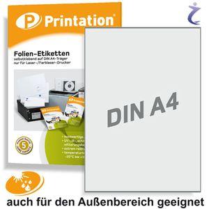Universal Etiketten 210 x 297 mm WETTERFEST - Folienetiketten transparent auf A4