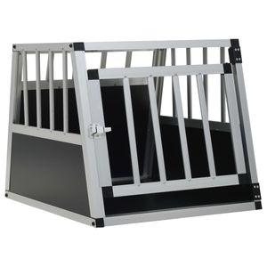 Outdoor-Hundezwinger Hundekäfig Transportbox - Tierlaufstall mit Einzeltür 54 x 69 x 50 cm |86553