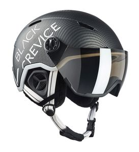 BLACK CREVICE - Ski-& Snowboardhelm - Modell: VAIL - Visor | Farbe: Schwarz Carbon | Größe: M (55-58 cm)