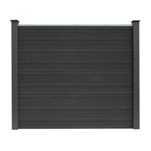 HOME DELUXE - WPC Sichtschutzzaun Sichtschutz V2 Grau 170 x 180 cm - 1x Element + 2x Pfosten Gartenzaun Windschutz Blickschutz
