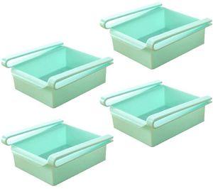 4 x Kühlschrank Klemm Schublade -Blau
