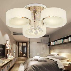 Kristall  Deckenleucht Deckenlampe Hängelampe  Dimmbar  E27 + Fernbedienung Pendelleuchte für  Wohnzimmer Schlafzimmer Modern Stil