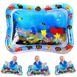 Baby Kinder Aufblasbares Wassergefülltes Wasser Spielmatte Aufblasbare Wassermatte Bauch Tummy Time Spielzeug