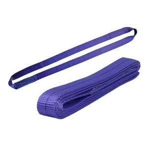 Einweg Endlosschlinge 1 Tonnen Tragfähigkeit 1 Meter Länge Hebebänder Bandschlinge Rundschlinge Hebeband Hebegurt aus Polyster mit Endschlaufen für Kran, Abschleppen Violet