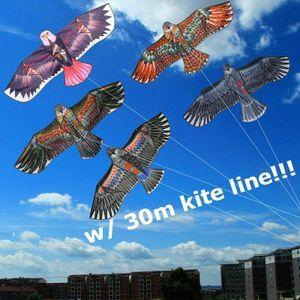 Drachen Outdoor Kinder Drachen riesige Adler Flugdrachen Kites w/ 30m kite Y3W0