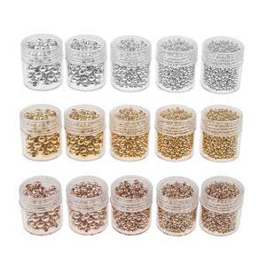 15 Flaschen Großhandel Metallperlen Kugel Spacer beads Perlen Zwischenperlen