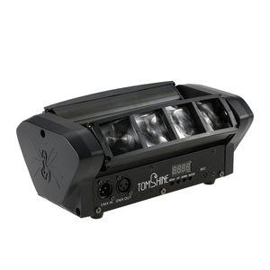 Tomshine Upgrade-Version DMX512 40W Head Moving drehbare RGBW LED Mini Spider Stage Beam Light 11CH Kanaele fuer Bar Disco DJ Show Club