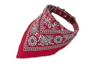 Halsband mit Tuch - rot - L: 45 cm