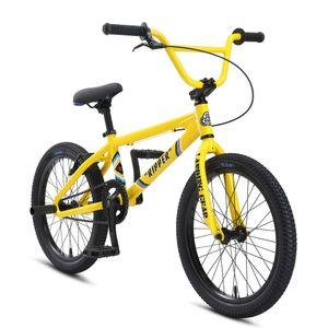 SE Bikes Ripper 20 Zoll BMX Rad Oldschool Freestyle BMX Bike Fahrrad 20' Street, Farbe:yellow, Rahmengröße:26 cm