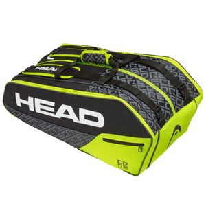 HEAD Core 9R Supercombi Tennistasche Schwarz Gelb