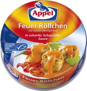 Appel Feuer Röllchen Heringsfilets in scharfer Schaschlik Sauce 200g