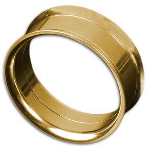 viva-adorno 1 Stück 6mm Edelstahl Tunnel mit Innengewinde in verschiedenen Farben Größe 4 - 30mm Z155,gold