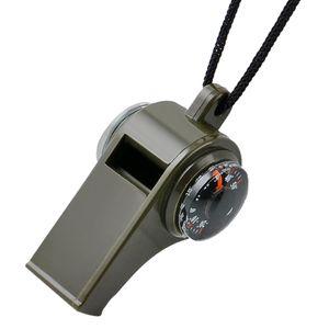 Mehrzweck 3 In 1 Pfeife - Kompass - Thermometer Outdoor Überlebensausrüstung