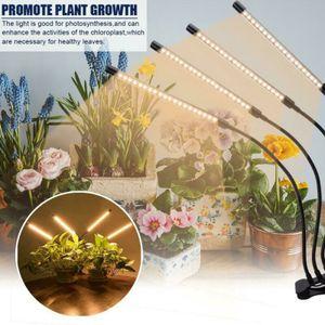 Pflanzenlampe LED 4 Heads Pflanzenlicht Vollspektrum Einstellbar Pflanzenleuchte