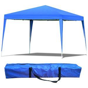 COSTWAY Faltpavillon Gartenpavillon Pavillon Faltzelt Partyzelt Gartenzelt faltbar 3x3 m inkl. Tragetasche blau