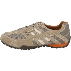 GEOX Snake Herren Low Sneaker Beige Schuhe, Größe:46