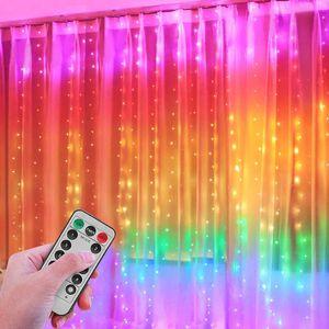 LED Vorhang: RGB-LED-Lichtervorhang, 280 LEDs, Fernbedienung, 3x2.8 m)