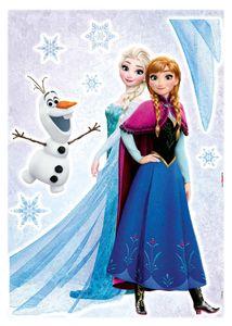 """Komar Wandtattoo Kinderzimmer, Deco-Sticker Eiskönigin, Anna & Elsa """"Frozen Sisters"""" 50 x 70 cm, bunt, 14046h"""