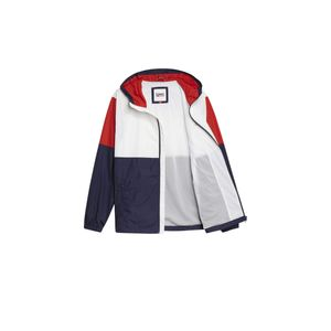 Tommy Jeans TJM Nylon Colorblock Windbreaker Herren white multi weiss / blau / rot M