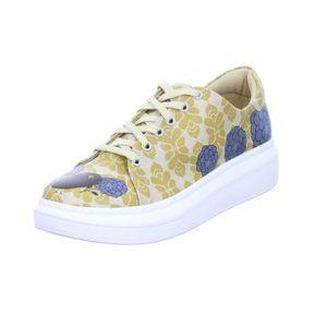 DOGO Damen Sneaker Blue Gelb