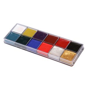 12 Farben Ungiftige Schminkfarben Schminkset Schminkpalette Kinderschminke Schminke Make-Up für Jungen Mädchen